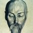 Портрет Н. К. Рериха. С. Н. Рерих.  1924 г. (ГХМЛ, Рига)