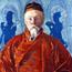Портрет Н. К. Рериха. С. Н. Рерих. 73x120, х., т., м. 1928