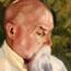 Портрет Н. К. Рериха. С. Н. Рерих.  22,5x29,7. Холст на картоне, масло.