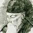 Николай Рерих. Неизвестный автор. Графический портрет.