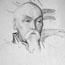 Портрет Н. К. Рериха. С. Н. Рерих. 31x23, б., карандаш.