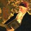 Портрет Н. К. Рериха. С. Н. Рерих. 1934. Холст, масло. 75,5х91