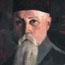 Портрет Н. К. Рериха (фрагмент портрета). С. Н. Рерих. Местонахождение неизвестно.