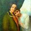 Юная Блаватская с матерью. Автор картины, предположительно, сама Елена Петровна. Оригинал в Доме-музее Блаватской, Днепропетровск.