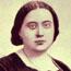 """Е. П. Блаватская в молодости. Фотография известна за рубежом как """"Прелестная дева"""" (Young Lady). Первая публикация в книге А. П. Синнета """"Случаи из жизни М-м Блаватской"""". Оригинал находился в медальон"""