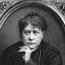 """Е. П. Блаватская. 1877-1878. Фото выполнено неким Сарони в Нью-Йорке. первая публикация на фронтисписе одной из ранних публикаций """"Разоблаченной Изиды""""."""