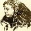 """Неизвестный автор. Рисунок-портрет Е. П. Блаватской. Воспроизведен в сборнике теософских трудов """"Кармические видения""""."""