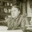 """Е. П. Блаватская утром за своим столом, пишет Тайную Доктрину. Конец 1887, Лансдаун Роад, 17, Лондон. Оригинальная публикация в журнале """"Путь"""", т. VII, май 1892 г."""