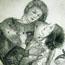 Влюбленные юноша и девушка в саду. 1932
