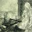 Юноша,  поющий  девушке песню под лютню. 1932