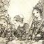 Три милые принцессы в замке. 1933