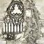 Молодая леди в церкви у окна. 1933
