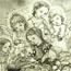 Ангелы, охраняющие ребенка у колыбели. 1933