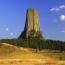 Башня дьявола - штат Вайоминг – США. Скала представляет собой монолит из вулканических пород.