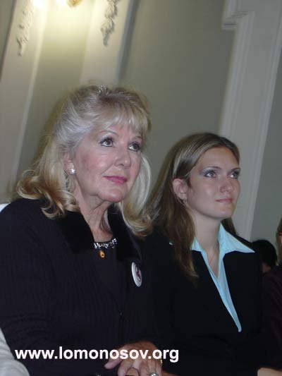Алисия Родригес Фернандес, президент Международного комитета Знамени Мира при ООН, Мексика, с секретарем-референтом