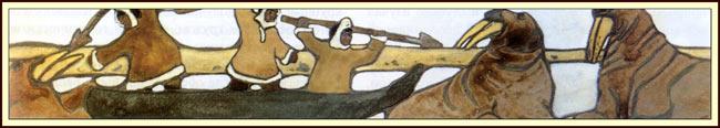 Николай Рерих. Каменный век. Север (охота на моржей). Фрагмент. 1904 г.