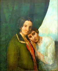Портрет юной Е. Ган-Блаватской с матерью (из собрания Музея Блаватской в Днепропетровске)