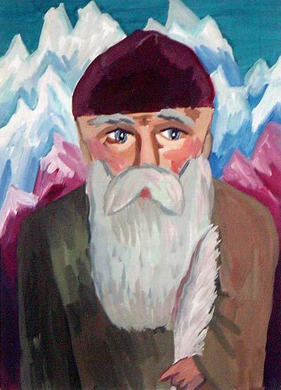 Рисунки детей, посвященные Николаю Рериху