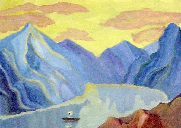 Рисунки детей по мотивам картин Н. К. Рериха