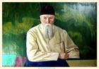 С. Н. Рерих. Портрет Н. К. Рериха. 1937. 77x108,7, холст, масло
