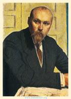 Б. М. Кустодиев. Николай Константинович Рерих. 1913 (фрагмент картины)
