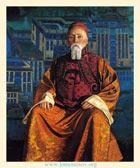 С. Н. Рерих. Портрет Н. К. Рериха. 1933. Холст, темпера. 152,4х124,5 (Нью-Йорк, Музей Николая Рериха)