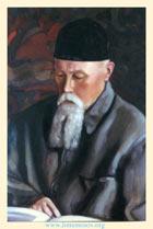 C. Н. Рерих. Портрет Н. К. Рериха. 1937. Х., м. 61,5х71. Аллахабадский муниципальный музей, Аллахабад, Индия