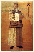 C. Н. Рерих. Портрет Н. К. Рериха. 1933. Шелк, темпера. 205,5х148,6