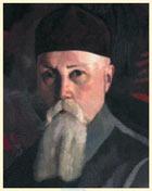 С. Н. Рерих. Портрет Н. К. Рериха (фрагмент портрета). Местонахождение неизвестно