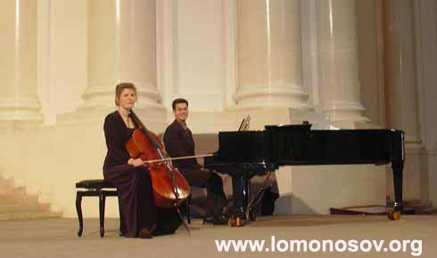 Виолончель с фортепиано. Ф. Четвериков и М. Елькина
