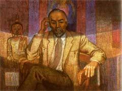 Илзе Рудзите. Портрет Юрия Рериха. 1990. Бийский краеведческий музей