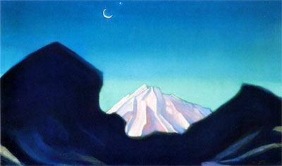 С. Рерих. Гималаи III. 1974. Х., т. 60,7х106. ГМВ