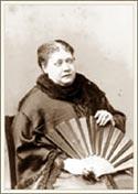 Е. П. Блаватская. Лондон, 1884 (между мартом и октябрем). Фото Лауры Лэндфорд Холлоуэй