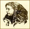 Неизвестный автор. Рисунок-портрет Е. П. Блаватской. Воспроизведен в сборнике теософских трудов Кармические видения