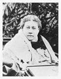 Е. П. Блаватская в кресле-каталке на Авеню-Роуд, 19. Лондон. 1890