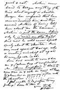 Лист письма Е. П. Блаватской. Фрагмент