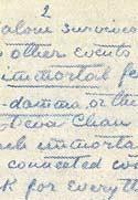 Листок письма Махатмы К. Х. (деталь). Август 1882. Оригинал 20,6х13,7 см. Лондон, Общество Психических Исследований