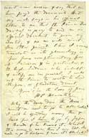 Листок письма Е. П. Блаватской. Лондон, Общество Психических Исследований