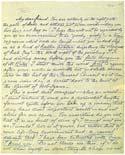 Листок письма Махатмы К. Х. 20 февраля 1881. Оригинал 21,2х26,2 см. Лондон, Общество Психических Исследований