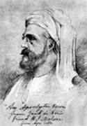 Полковник Олкотт. Рис. Е. Блаватской, 1877 (Теософист, 1931 г.)