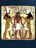 XIV в до н.э. Роспись из усыпальницы Рамсеса I. Долина царей.