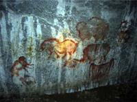 Рисунки древнего человека.Каповая пещера. Южный Урал