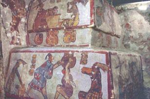 Фрески, показывающие жизнь простых членов общества древних индейцев майя. ФОТО-PNAS