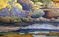 Н. К. Рерих. Небесный бой.1912