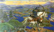 Н. К. Рерих. Илья Муромец [декоративное панно]. 1910