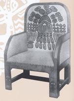 Н. К. Рерих. Кресло (Эскиз для мастерских в Талашкине) 1904