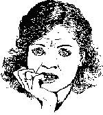 Прикрывание рта, прикусывание ногтей