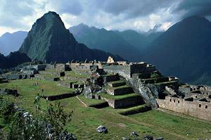 Затерянный город Мачу Пикчу в Куско (Перу). Инки использовали визиры для наблюдения Солнца