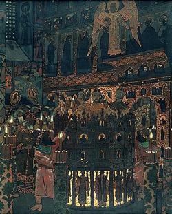 Н. К. Рерих. Пещное действо.1907. Третьяковская галерея, Москва.