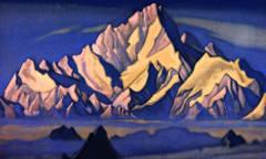 Н.К. Рерих. Гималаи. Обитель Гэсера. 1947